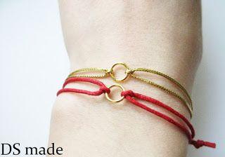 bransoletki ze złotymi kółkami gold