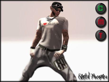 Sinful Frenzies Male T-Shirt [White]