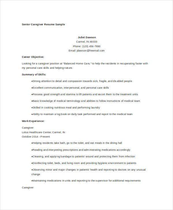 senior-caregiver-resume
