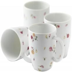 Royal Albert Country Rose Buds Mugs, Set of 4