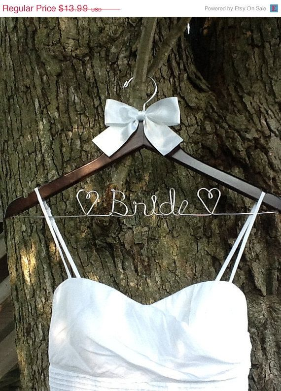HUGE SALE SALE - Personalized Wedding Hanger / bridesmaid gifts / 44 colors of ribbon to choose from/name hanger/brides hanger/ on Etsy, $13.99