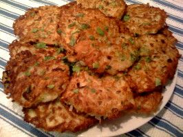 Potato Pancakes - German Style, 5 of 5 Stars, 9 Reviews | food.com. Note: Uses baking powder.