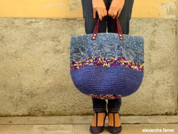 Great look for this large bag. Shades of blues. by AlexandraFamer, €180.00