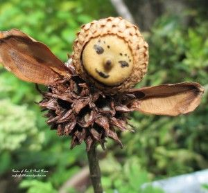 Make your own garden fairies from natural materials.