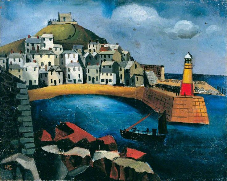 The Harbour (1926) by Christopher Wood, Mercer Art Gallery, Harrogate