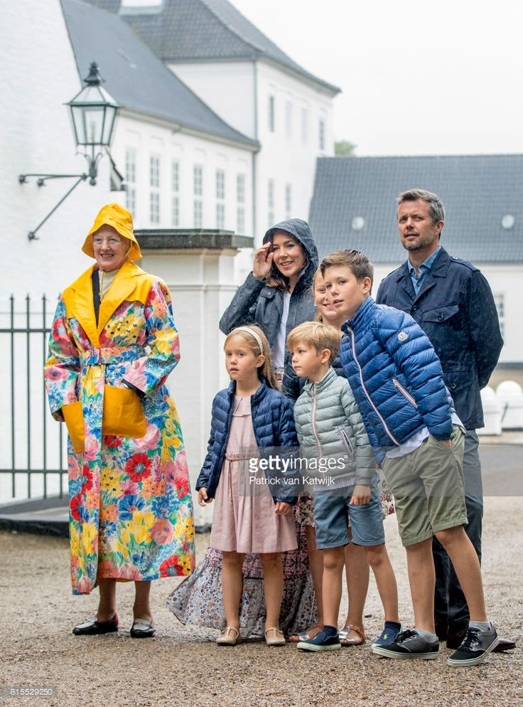 Queen Margrethe of Denmark, Crown Prince Frederik of Denmark, Crown Princess Mary of Denmark, Prince Christian of Denmark, Princess Isabella of Denmark, Prince Vincent of Denmark and Princess Josephine of Denmark attend the Ringsted horse ceremony at Grasten Slot during their summer vacation on July 16, 2017 in Grasten, Denmark.