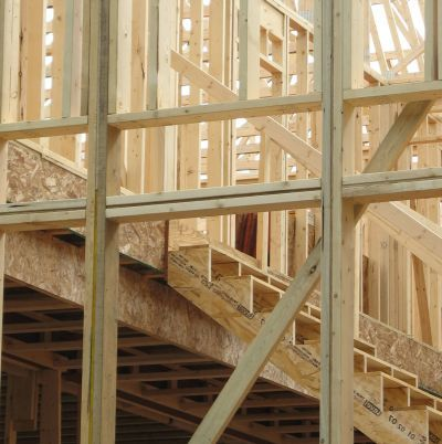 Residential wood frame construction.