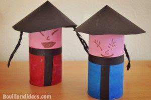 DIY bricolage enfant Nouvel an Chinois poupées chinoises avec rouleau papier toilette