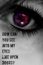 My eye. Evanescence lyrics
