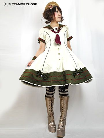 No.417 Sailor switching dress Corde