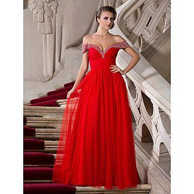 gratis+metingen!+a-lijn+off-the-shoulder+vloer-length+tule+en+chiffon+avond+/+prom+dress+–+EUR+€+125.49