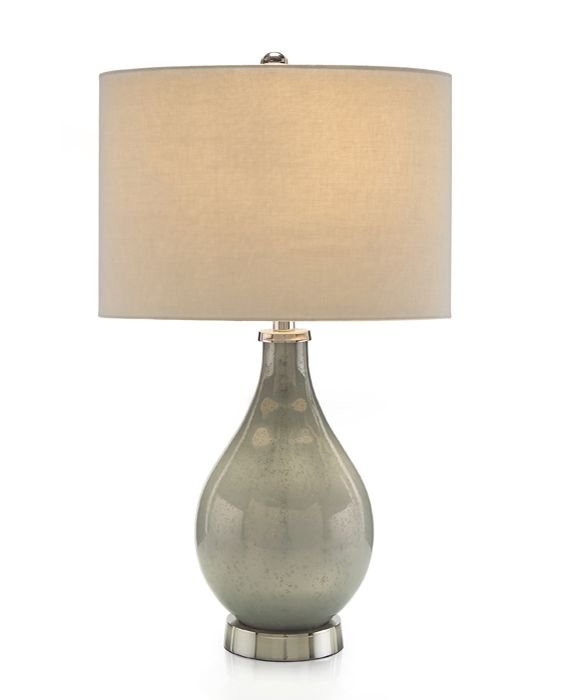 Lovely Elegant Tone On Tome Frosted Mercury Glass Lamp In A Pale Mint Green. Nice Design