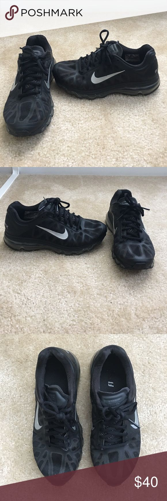 All black NIKE Airmax Shoes!! Women's Size 7. Absolutely love this pair. These were my favorite so I kept them in awesome condition!! LIKE NEW. Nike Shoes Athletic Shoes