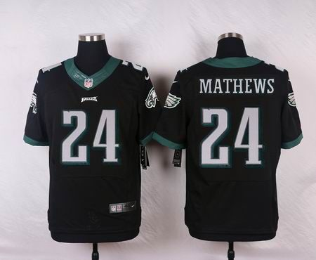 Philadelphia Eagles Jersey#24 Ryan Mathews Black NFL Nike Elite Jerseys