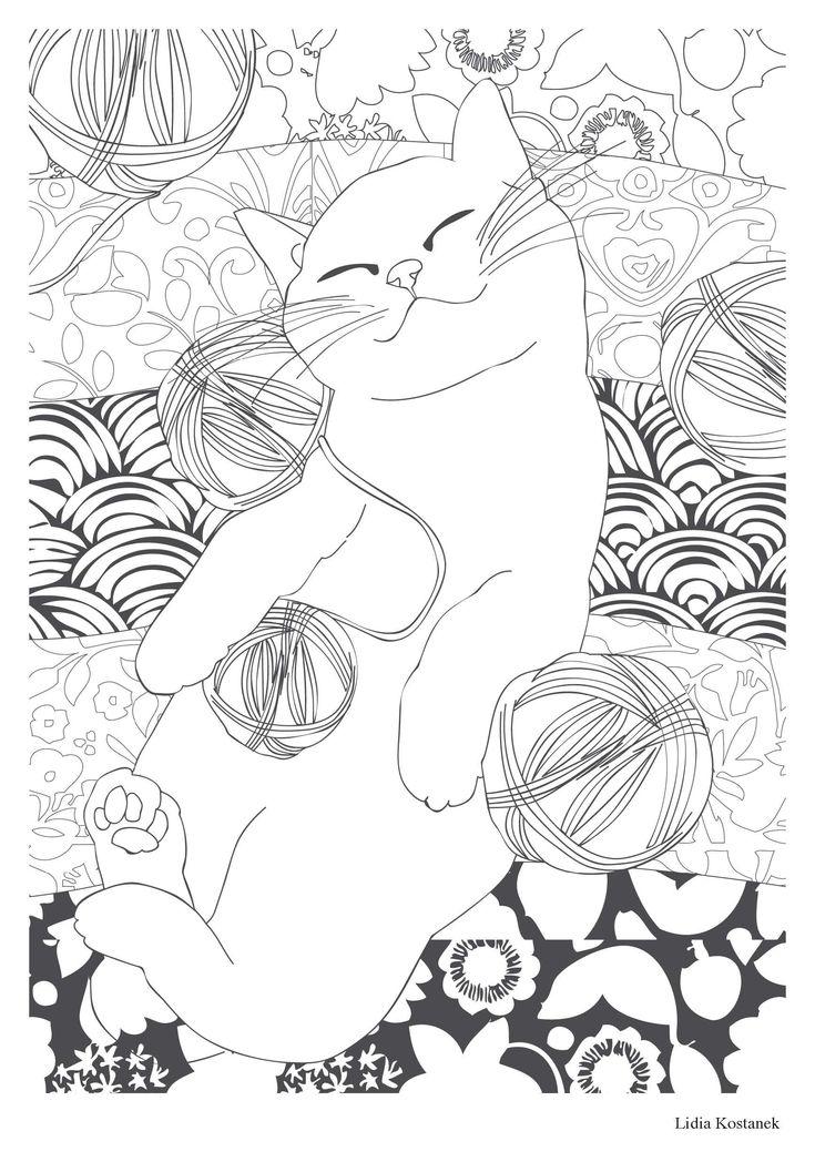 Amazon.fr - Chat thérapie: 100 coloriages anti-stress - Collectif - Livres