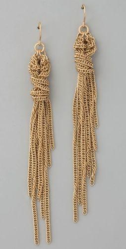 Madewell Braided Tassel Earrings. Edgy glam.