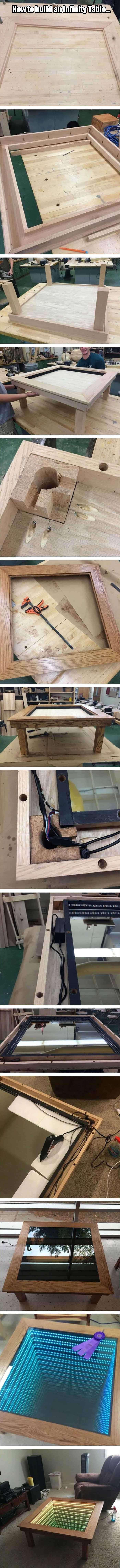 How To Build An Infinity Table  14 Pics