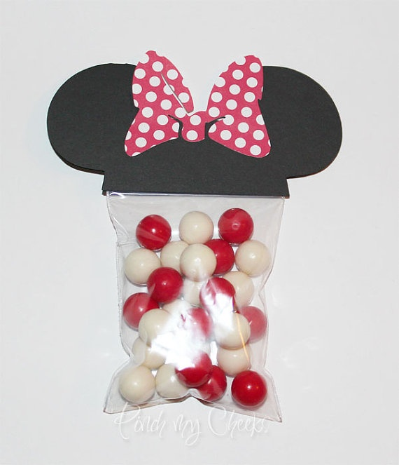 Minnie Mouse Favor Party Bags with RED POLKA DOT by pinchmycheeks, $16.00