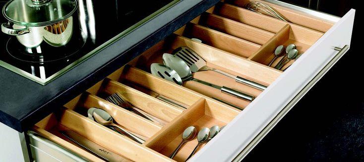 900mm Wooden Cutlery Drawer Insert
