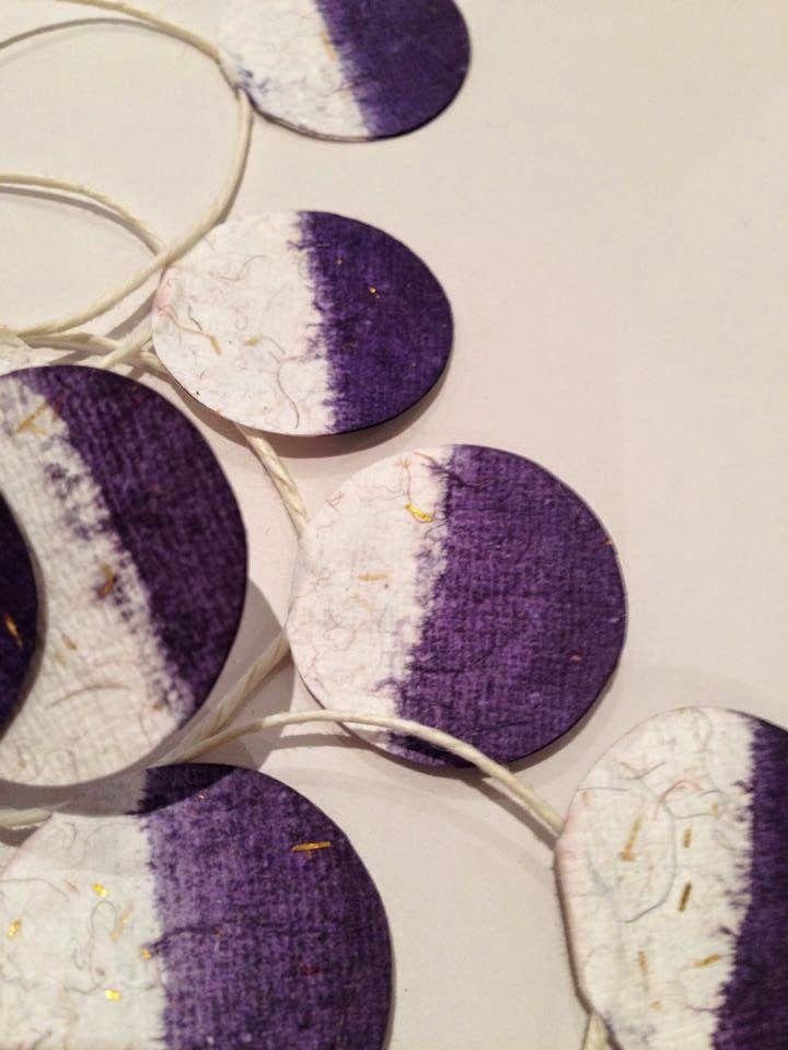 DIY gift ribbon  tie-dyed gift ribbon / Christmas is coming  mondundmandel.blogspot.com