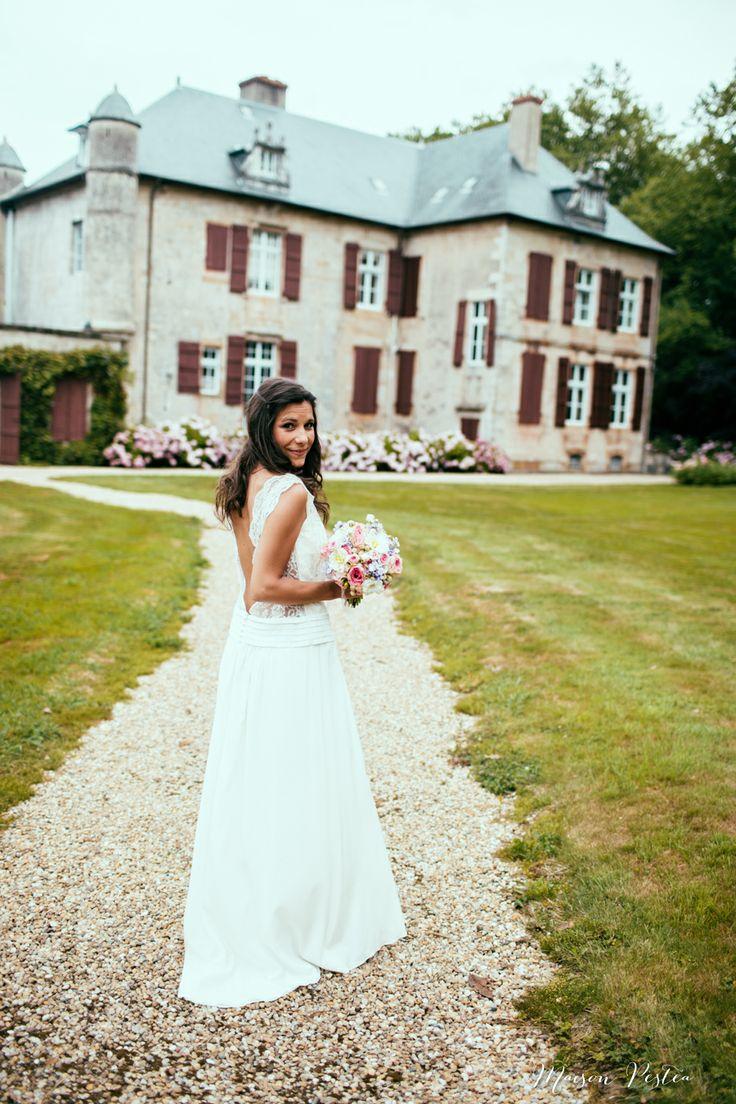 Dress Laure de Sagazan - Wedding Photographer Biarritz - http://www.maisonpestea.com/blog