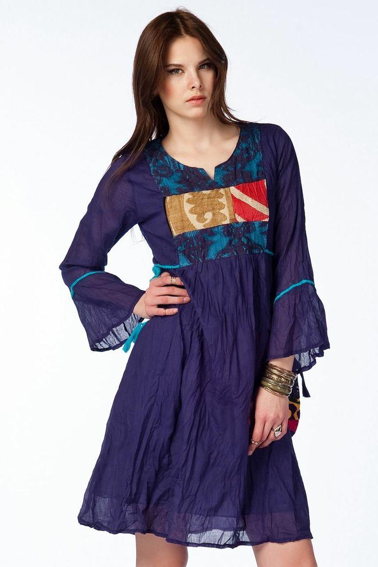 Otantik Köyceğiz Elbise - Mor
