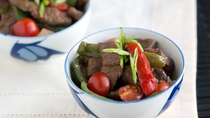 Put down the take out menu and make this easy Asian Pepper Steak recipe with beef, bell peppers and onion.