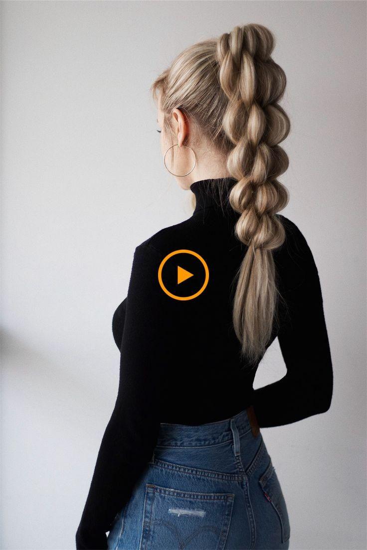 Tutoriel unique de cheveux en queue de cheval tressé #africainetresses #faciletresses #mariagetresses