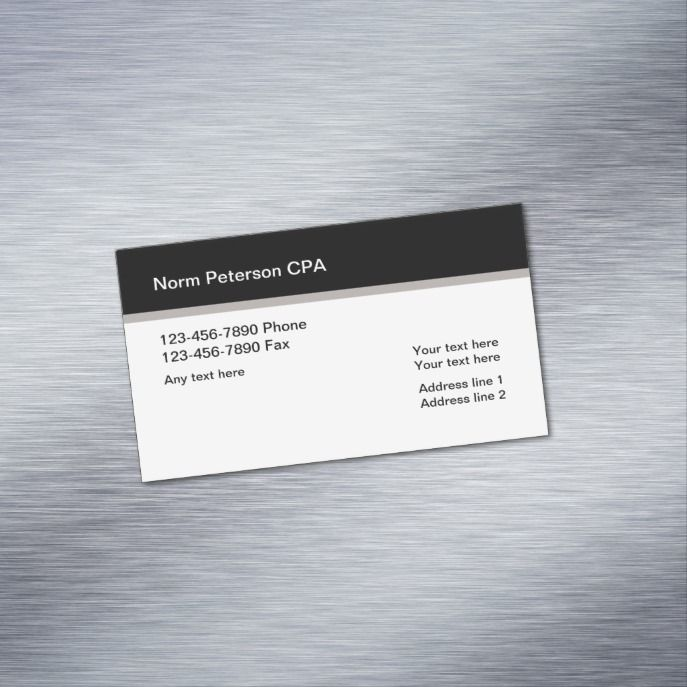Simple Professional Cpa Accountant Business Card Magnet Zazzle Com Magnetic Business Cards Professional Business Cards Accounting