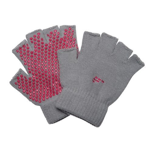 BCG™ Nonslip Fingerless Yoga Gloves.  I bought these and they help a lot!
