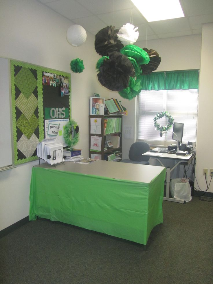 Classroom Decor Ideas For High School ~ Green classroom decorations high school