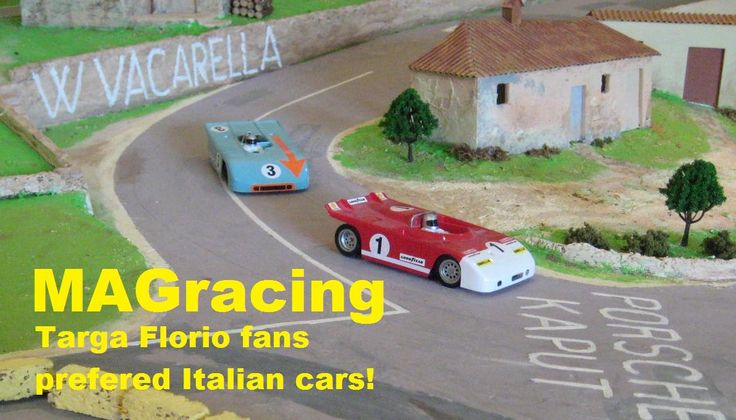 There are no guide slots or power tapes to spoil the realism so Magracing tracks can be the most realistic ever.   This is a mountain circuit based on the famous Targa Florio in Sicily.    See www.magracing.co.uk