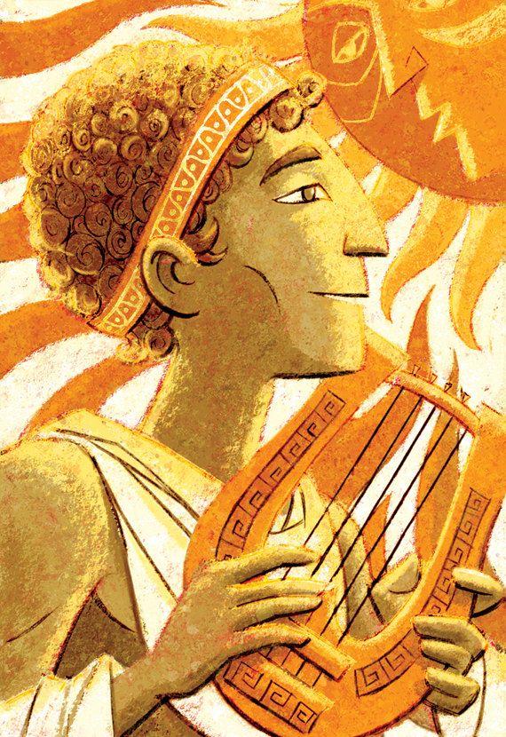 Dioses griegos  Apolo 8 x 10 Print por glenmullaly en Etsy, $16.00