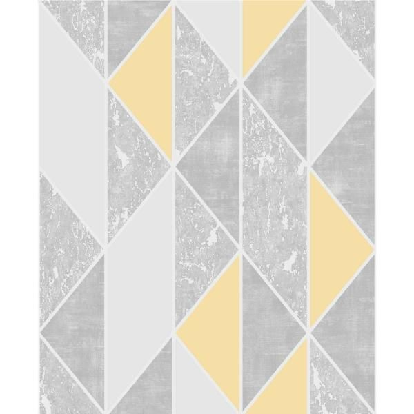 Super Fresco Milan Geo Vinyl Peelable Roll Covers 56 Sq Ft 106532 The Home Depot Grey Removable Wallpaper Grey Wallpaper Gold Removable Wallpaper