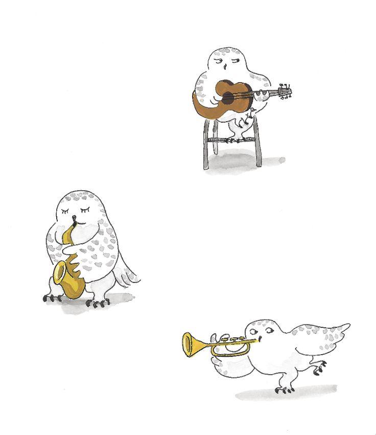 White owl Illustration