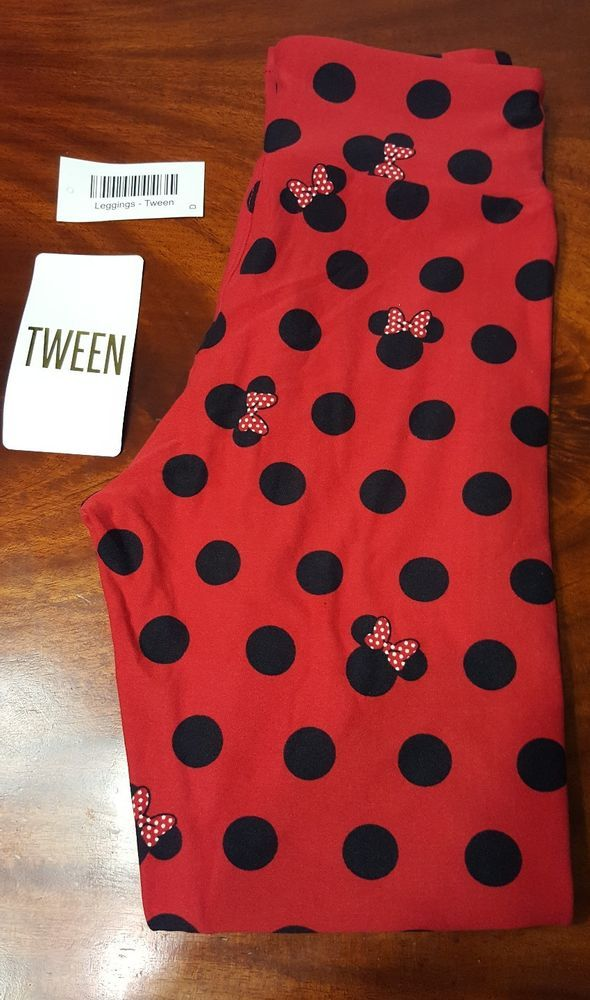 3e76ed6bc LuLaRoe DISNEY COLLECTION Tween Red Background Black Polka Dots Minnie Mouse  | Clothing, Shoes & Accessories, Women's Clothing, Leggings | eBay!