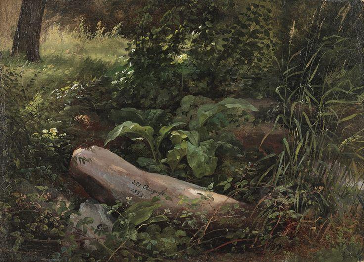 """Johan Christian Dahl, """"Forest Study from Grosser Garten, Dresden,"""" 1822, oil on canvas."""