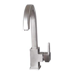 Astracast Varon Side Lever Monobloc Kitchen Sink Mixer Tap - Brushed Stainless Steel