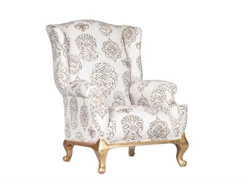 Wingback With Gold Foot Measurements 700 x 700 x 1100