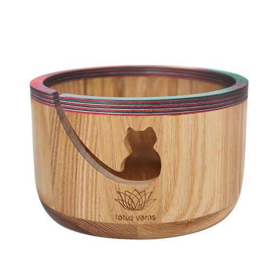 Wooden cat yarn bowl Etsy listing at https://www.etsy.com/listing/270869832/knitting-crochet-wood-yarn-bowl