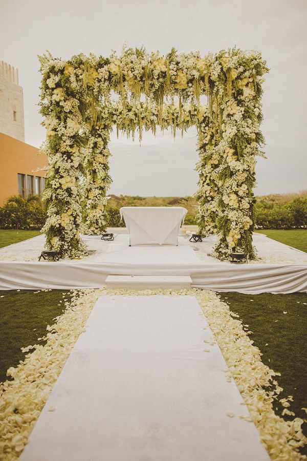 Beautiful wedding ceremony decor by Ed Peers | via junebugweddings.com