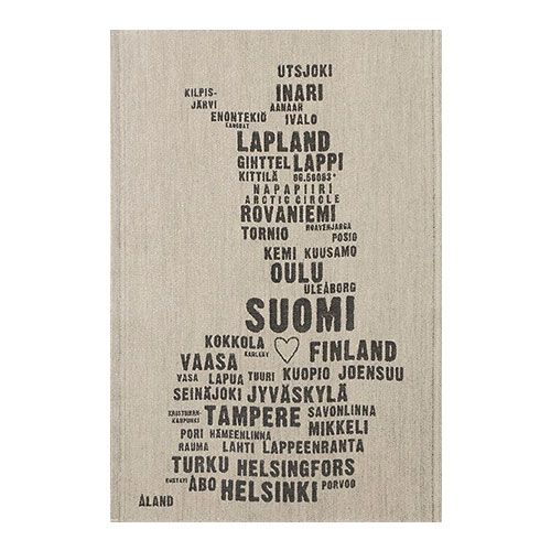 This makes a great gift for Finnish friends and family, whether they live there now or are elsewhere missing home.  Lapuan Kankurit My Finland Tea Towel - $20.50