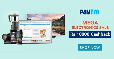 Mega Electronics Sale At #Paytm. Flat Rs 10000 #Cashback On All Electronics. http://www.grabon.in/paytmelectronics-coupons/ #PaytmKaro
