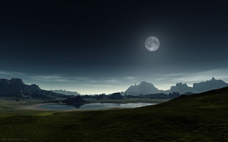 Saying Wallpaper Hd Beautiful Full Moon Photos Mountains Around Lake And
