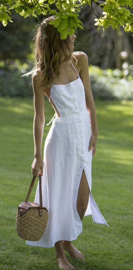 summer outfits White Maxi Dress