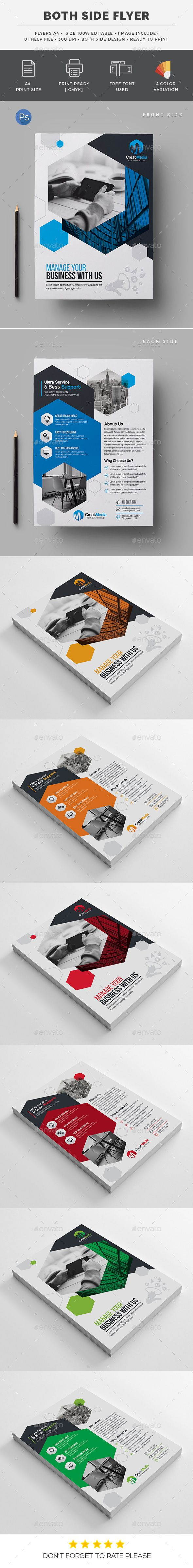 Both Side #Flyer - #Corporate Flyers Download here: https://graphicriver.net/item/both-side-flyer/19466322?ref=alena994