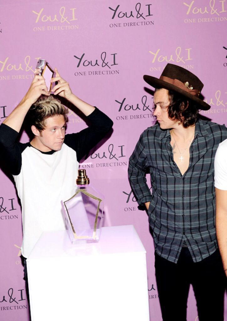 """Harry and Niall at the """"You & I"""" perfume launch in New York on Aug 5, 2014"""