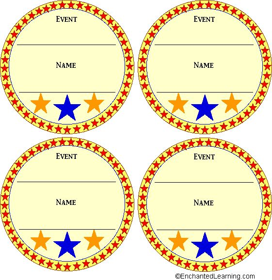 color medal templates