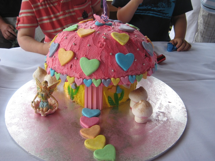 Fairy Toadstool Cake for 1st B'day party from Womens Weekly Birthday Cake book