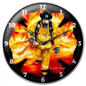 FIRE FIGHTER CLOCK